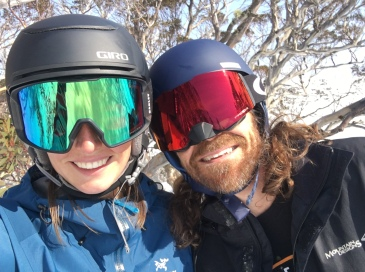 A very Australian experience: skiing in the snow gums